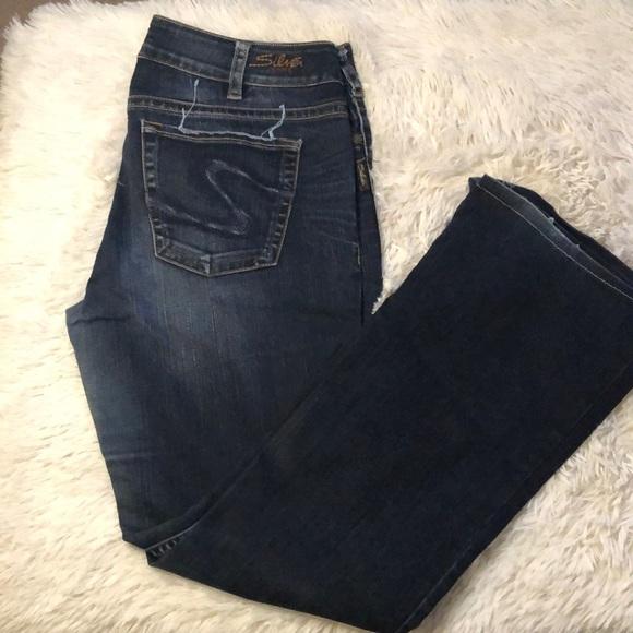 Silver Jeans Suki bootcut dark wash denim